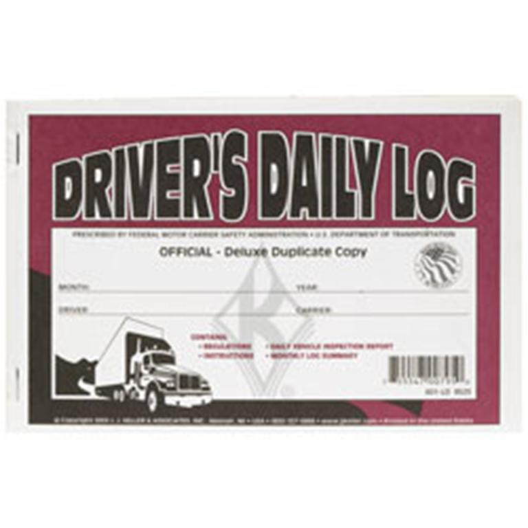 maroon and white driver log book